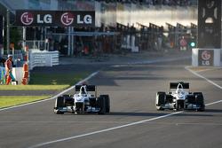 Nick Heidfeld, BMW Sauber F1 Team sauber F1 Team and Kamui Kobayashi, BMW Sauber F1 Team