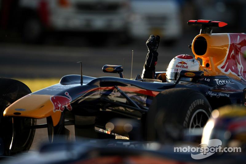 Race winnaar Sebastian Vettel, Red Bull Racing