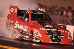 Cruz Pedregon, burnout in 2010 Snap On Toyota Camry Funny Car
