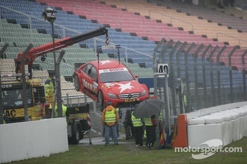 Congfu Cheng, Persson Motorsport, AMG Mercedes C-Klasse na zijn crash in de Sachsbocht