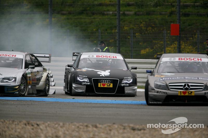 Crash bij de start: Markus Winkelhock, Audi Sport Team Rosberg Audi A4 DTM