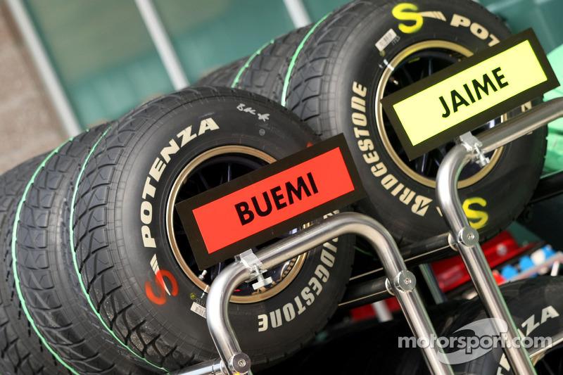 Scuderia Toro Rosso, pneus Bridgestone