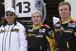 Hugh Hayden poses with Rebellion Racing team