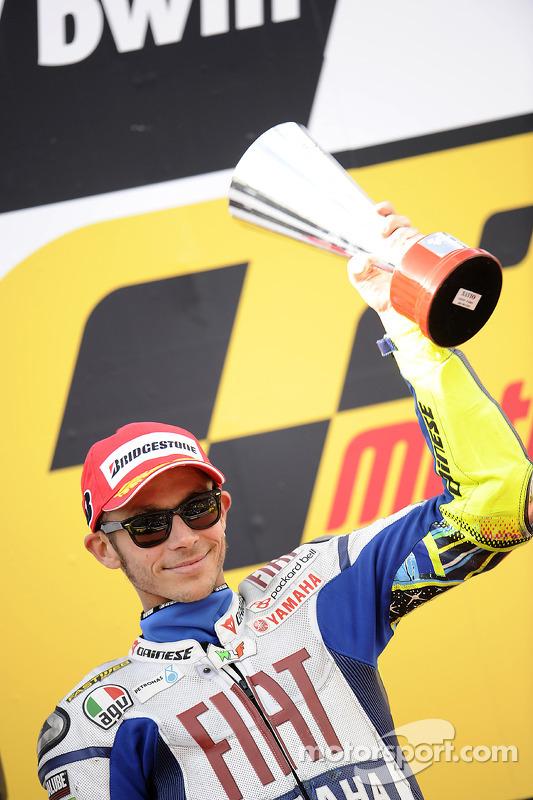 Podium: 2de Valentino Rossi, Fiat Yamaha Team