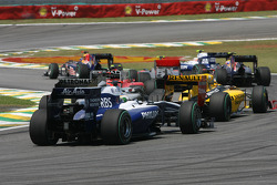 Rubens Barrichello, Williams F1 Team at the start of the race