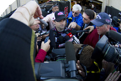 Jeff Gordon gets interviewed after his wreck with Jeff Burton