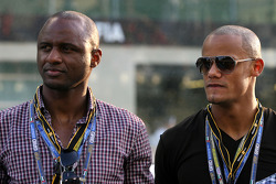 Patrick Viera, Manchester City football player and Vincent Kompani, Manchester City football player