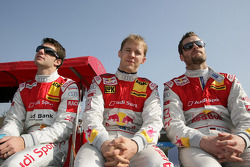 Miguel Molina, Audi Sport Rookie Team Abt, Audi A4 DTM, Mattias Ekström, Audi Sport Team Abt Audi A4 DTM, Martin Tomczyk, Audi Sport Team Abt Audi A4 DTM