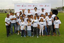 Charity Nissan event with Nissan drivers and Robert Carlos