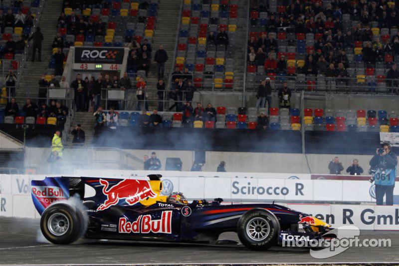 Sebastian Vettel in the Red Bull Racing F1 car