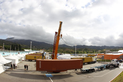 Containers arrive in San Luis