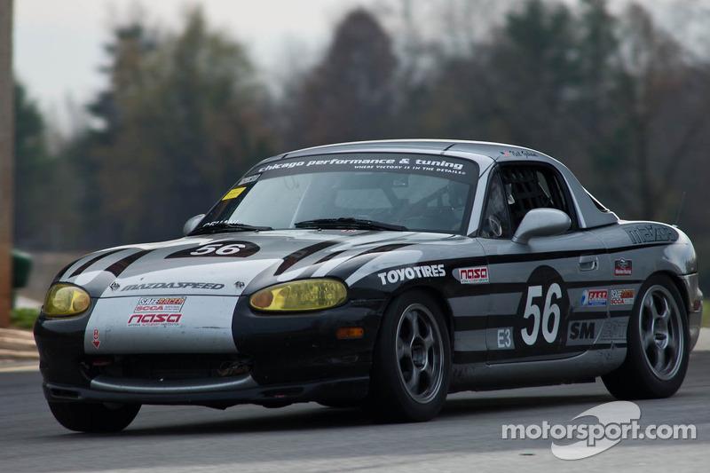 #56 Delta House 1999 Mazda Miata gray: Brett Simons, Neil Gehani, Michael Anzaldi