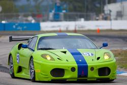 #57 Krohn Racing Ferrari 430 GT2: Tracy Krohn,Nic Jonsson
