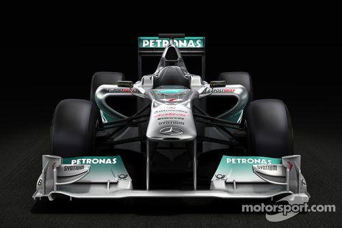 Mercedes GP F1 Takım MGP W02 lansman öncesi