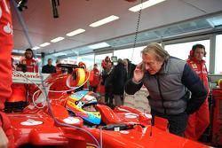 Fernando Alonso, Scuderia Ferrari and Luca di Montezemolo, Scuderia Ferrari, FIAT Chairman and President of Ferrari