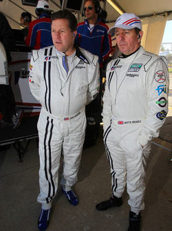 Zak Brown and Martin Brundle