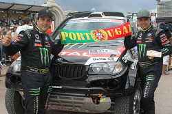 Podium : 7e place pour la catégorie voitures, Ricardo Leal dos Santos and Paulo Fiuza