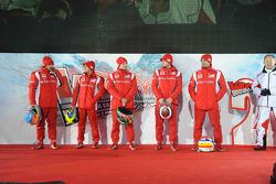 Fernando Alonso, Felipe Massa, Giancarlo Fisichella, Jules Bianchi, Marc Gene