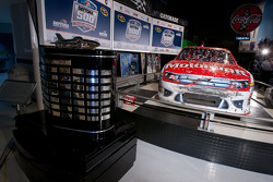 Champion's breakfast: the 2011 Daytona 500 winning Wood Brothers Racing Ford of Trevor Bayne inside the Daytona 500 Experience building where it will remain for a full year