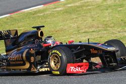 Nick Heidfeld, testing for Lotus Renault GP
