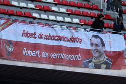 Des fans de Robert Kubica (Renault)