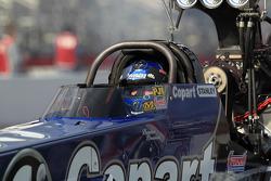 Brandon Bernstein dans son dragster Copart Top Fuel