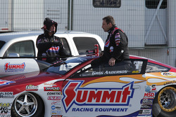 Greg Anderson aboard his Summit Racing Equipment Pontiac GXP waiting to be weighed on the scale