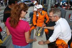 #15 multimatic Motorsports Mustang Boss 302R: Joe Foster, Scott Maxwell sign autographs