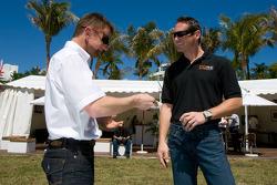 Go Green Auto Rally event in Miami: Allan McNish and Gunnar Jeannette