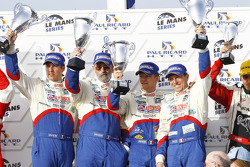 LM P1 podium: class and overall winners Emmanuel Collard, Christophe Tinseau and Julien Jousse