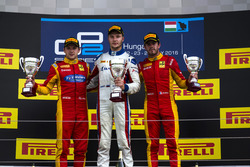 Podio: ganador de la carrera Sergey Sirotkin (RUS, ART Grand Prix; segundo lugar , ART Grand Prix), Jordan King, Racing Engineering; tercer lugar Norman Nato, Racing Engineering