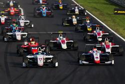 Matthew Parry, Koiranen GP devance Antonio Fuoco, Trident, Jake Dennis, Arden International, Charles Leclerc, ART Grand Prix et Nirei Fukuzumi, ART Grand Prix