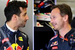 Christian Horner, Red Bull Racing Team Principal with Daniel Ricciardo, Red Bull Racing