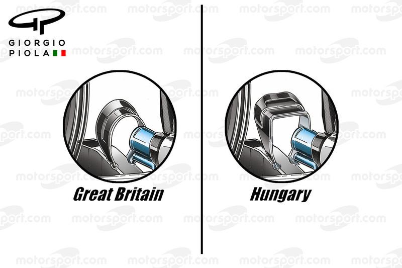 مقارنة مقعد القرد على سيارة مرسيدس دبليو07 فى المجر وبريطانيا