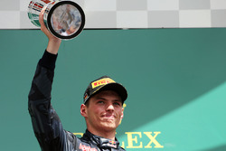 Podio: tercero Max Verstappen, Red Bull Racing
