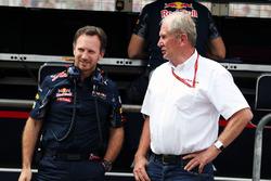 Christian Horner, Red Bull Racing Team Principal met Dr Helmut Marko, Red Bull Motorsport Consultant