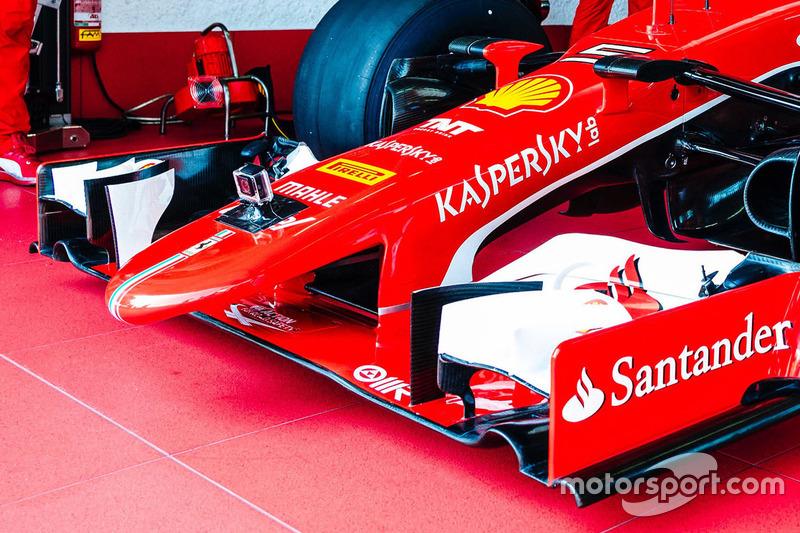 Передняя часть Ferrari SF15-T