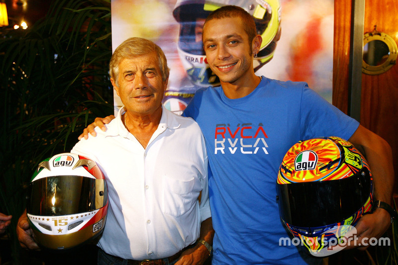 Giacomo Agostini y Valentino Rossi