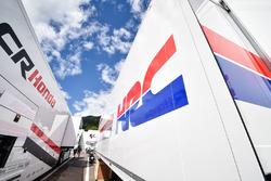 Honda truck in the paddock