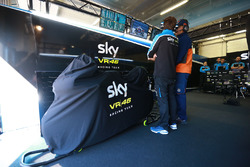 Romano Fenati, Sky Racing Team VR46, bike under cover
