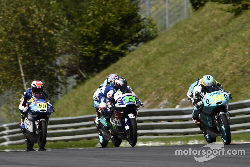 Joan Mir, Leopard Racing, KTM; Enea Bastianini, Gresini Racing Moto3, Honda