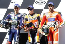 Polesitter Marc Marquez, Repsol Honda Team, tweede Jorge Lorenzo, Yamaha Factory Racing, derde Andrea Iannone, Ducati Team