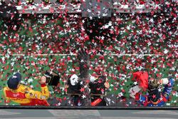 Podium: Sieger Will Power, Team Penske, Chevrolet; 2. Mikhail Aleshin, Schmidt Peterson Motorsports, Honda; 3. Ryan Hunter-Reay, Andretti Autosport, Honda