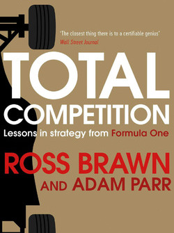 "Cover des Buchs von Ross Brawn und Adam Parr: ""Total Competition: Lessons in Strategy from Formula One"""
