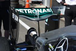 L'aileron arrière de la Mercedes AMG F1 W07 Hybrid