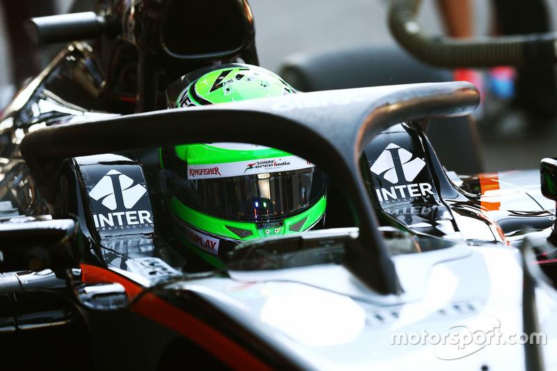 Nico Hulkenberg, Sahara Force India F1 VJM09, Halo kokpit ile pistte