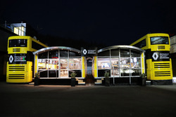 Renault Sport F1 Team motorhome at night