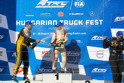 Podium: Sieger Steffi Halm, MAN; 2. Anthony Janiec, MAN; 3. Norbert Kiss, Mercedes-Benz