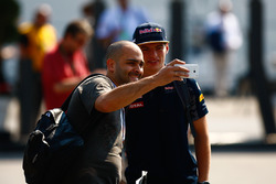 Max Verstappen, Red Bull Racing with fan