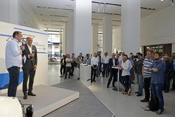 Patrick Simon, Hans-Joachim Stuck ''50 yıllık heyecan - Volkwagen Motorsport'' açılış töreninde